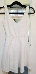 White Patterned sun dress